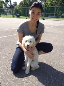 Linda Hung with dog